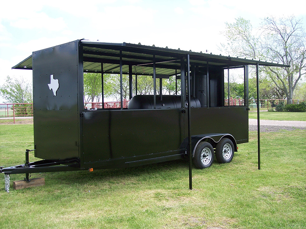 18 Ft Enclosed Trailer Johnson Custom Bbq Smokers