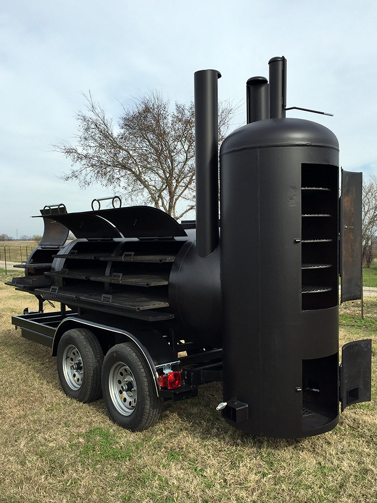 36 Quot Single Trailer Johnson Custom Bbq Smokers