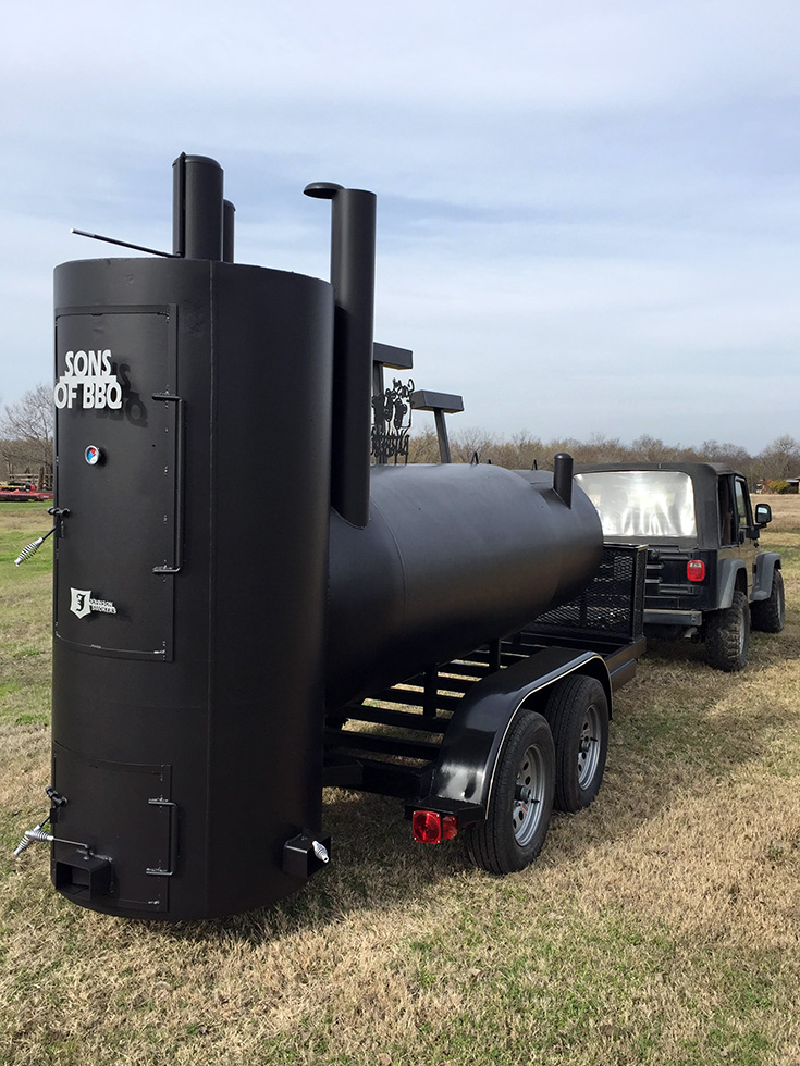 42 Quot Single Trailer Johnson Custom Bbq Smokers