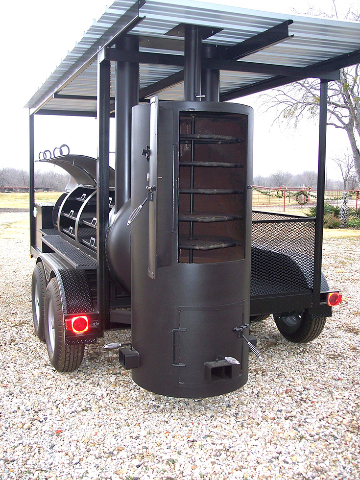 Large 14 Ft Roof Smoker Johnson Custom Bbq Smokers