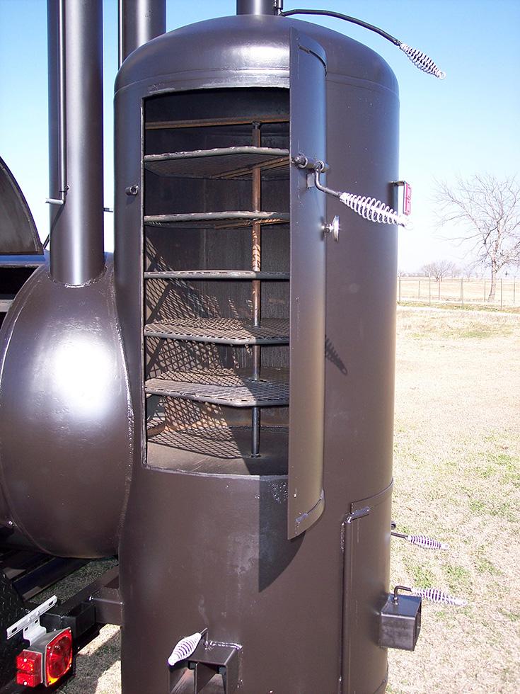 Large Dual Grill Johnson Custom Bbq Smokers